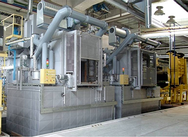Salt bath isothermal multi purpose furnace production line